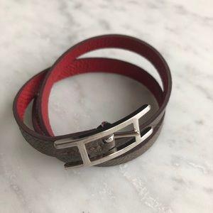 Authentic Hermes Behapi Double Tour Bracelet